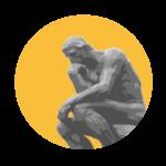 Logo - El pensador de Rodin